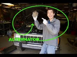 how to change an alternator jeep l straight