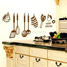 wall decal for kitchen with happy kitchen kitchenware utensils wallpaper wall decals removable art home wall stickers kitchen wall decor stickers walls