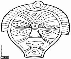 Kleurplaat Masker Luxe Kleurplaten Afrikaanse Maskers Archidev