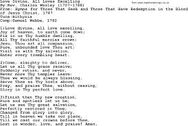 methodist hymn love divine all loves excelling lyrics pdf methodist hymn love divine all loves excelling lyrics