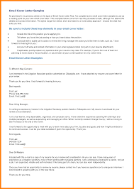 Cover Letter Examples By Email Tomyumtumweb Com