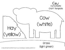 Cow Template Farm Cut And Paste Craft Template Cow