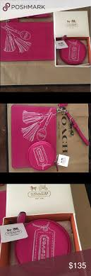 Coach Legacy Fuchsia Embossed Tassel Wallet+Case Please share and follow me  Check out my