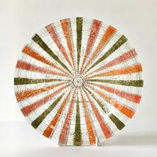 a castilian patterned fused glass bowl by higgins