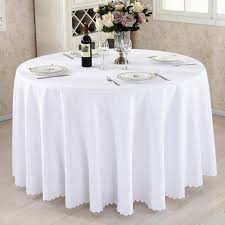 1pcs lot whole polyester round tablecloth for wedding hotel decor white table cloth square table linen dining table cover color 01 specification square