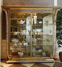 Living Room China Cabinet Luxury French Louis Xv Style Golden Single Door Curio Cabinet