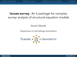 Sample Analysis Amazing Lavaansurvey An R Package For Complex Survey Analysis Of Structural