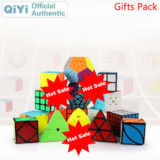 <b>QiYi</b> Gift Pack Magic Cube 4 sets pcs <b>2x2x2 3x3x3 4x4x4</b> 5x5x5 ...
