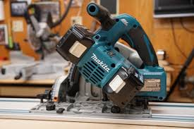 makita track saw. we really like that makita achieves this power, while still staying inside their 18-volt platform. makita track saw