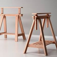 beech wood desk table leg trestle with shelf height and sawhorse table legs