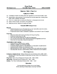 Cover Letter Culinary Resume Templates Culinary Student Resume