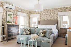 lighting a bedroom. Beautiful Tan And Blue Bedroom With Sofa. Lighting A