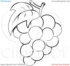 black and white grapes clipart. Plain Grapes In Black And White Grapes Clipart 3