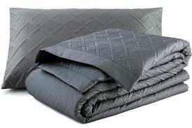 quilted duvet cover. Orcia Quilted Duvet Cover Set Granite