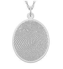 sterling silver fingerprint necklace