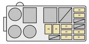 toyota land cruiser (1996 1997) fuse box diagram auto genius Fuse Box Diagram 1998 Ford F 350 at 1998 Toyota Land Cruiser Fuse Box Diagram