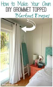 how to make your own diy grommet topped blackout ds at thehappyhousie com