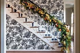 view in gallery eclectic and cheerful backdrop for the festive staircase design tobi fairley interior design