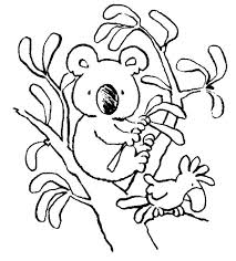 Small Picture Realistic Koala Coloring Pages Cute A Kids vonsurroquen