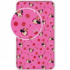 Disney Minnie Mouse Hoeslaken Hearts 90x200cm Merchandise Fever