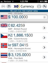 Xe Currency Converter Chart Xe Currency Exchange Best Travel Apps Solobagging