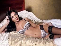 Hot brunette babes in lingerie