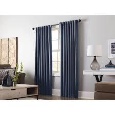 Hidden Tab Curtains Shop Allen Roth Gatton 95 In Indigo Polyester Back Tab Room