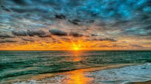 منظر شروق الشمس على البحر - صور حلوه