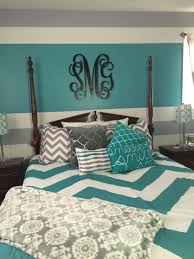 Teal And Gray Bedroom Turquoise Gray And White Teen Bedroom My Daughter Decorated Her