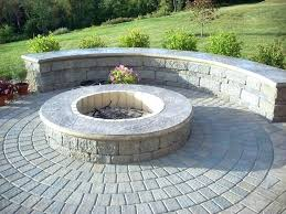 stamped concrete patio with square fire pit. Round Patio With Fire Pit Backyard Block Stamped  Concrete Cap . Square