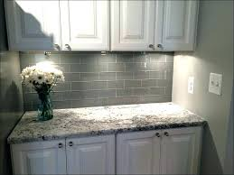 white glass subway tile with gray grout s