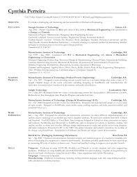Career Objective For Resume Mechanical Engineer Study Engineering