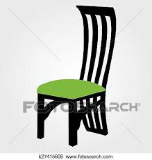 dining chair clipart. Beautiful Chair Clip Art  Designer Dining Chair Graphic Fotosearch Search Clipart  Illustration Posters With Dining Chair Clipart