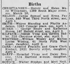 Joseph Kilpack and Estella Sadler Announces baby boy - Newspapers.com
