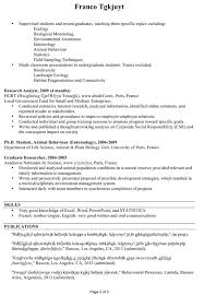 Very Good Resumes Zoology Resume Examples Examples Resume Resumeexamples Zoology