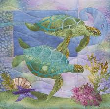 Sea Turtle Quilt Pattern hawaiian sea turtle quilt patterns turtle ... & Sea Turtle Quilt Pattern hawaiian sea turtle quilt patterns turtle quilt  pattern ebay Adamdwight.com