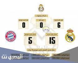 تاريخ مواجهات ريال مدريد وبايرن ميونخ ويكيبيديا - المصري نت
