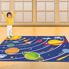 child s solar system floor rug