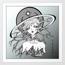 Demon Anime Girl Art Print By Kagami868