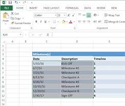 Project Timeline Excel Excel Timeline Tutorial Free Template Export To Ppt