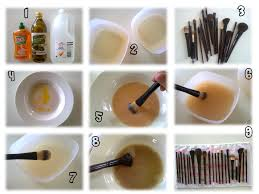 clean makeup brushes antibacterial dish washing liquid or hand wash olive home remedy