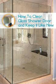 hard water spots on shower glass doors how to clean