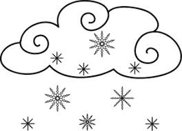 Small Picture Snowing Clipart Image Coloring Page of a Snow Weather Icon