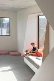 I like the way this creates an interesting window seat using simple shapes.  You could