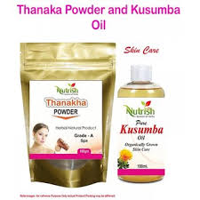 thanaka powder 100 gm and kusumba oil 100ml for permanent hair removal kit no of units 1
