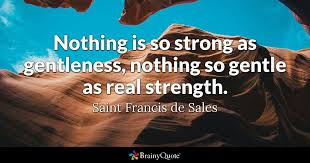 St Francis Quotes Mesmerizing Nothing Is So Strong As Gentleness Nothing So Gentle As Real