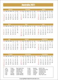 Here is our list of 2021 monthly calendars for you. Australia Calendar 2021 With Holidays Free Printable Template Printable The Calendar