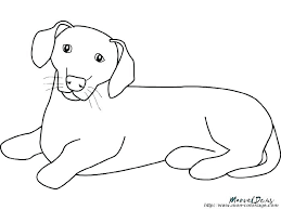 Dachshund Coloring Pages Dog Free A Dropnewsme