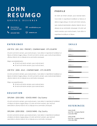 Modern Unique Resume Thanos Modern Resume Template With Unique Blue Header
