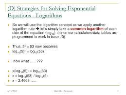 log10 5 math d mathpapa algebra